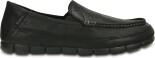 Crocs™ Stretch Sole Leather Loafer Black/Black