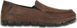 Crocs™ Stretch Sole Leather Loafer Espresso/Black