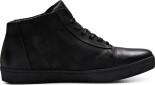 JACK&JONES Eddie Leather Zip Casual High Black
