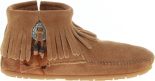 Minnetonka Concho Feather Boot Brown