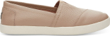 TOMS Leather Embossed New Women's Avalon Sneaker Stucco