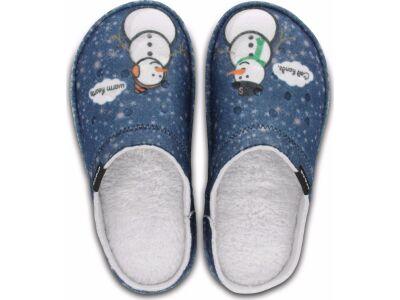 Crocs™ Classic Graphic Slipper Navy