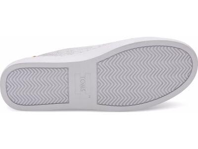 TOMS Metallic Leather Women's Lenox Sneaker Silver