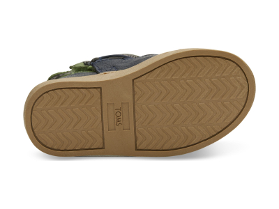 TOMS Quilted Synthetic Leather Kid's Alpine Boot Light Pine