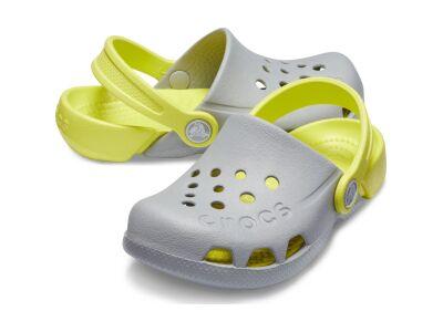 Crocs™ Kids' Electro Light Grey/Citrus