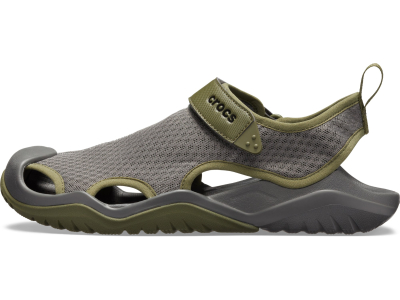 Crocs™ Swiftwater Mesh Deck Sandal Men's Slate Grey