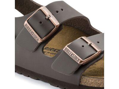 Birkenstock Milano Smooth Leather Dark Brown