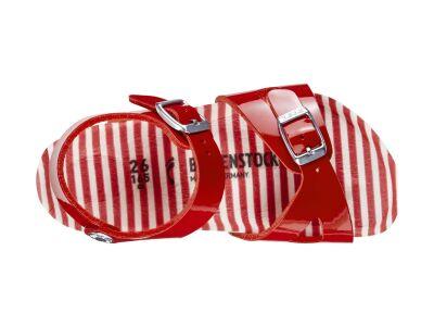 Birkenstock Rio Kids Nautical Stripes Red