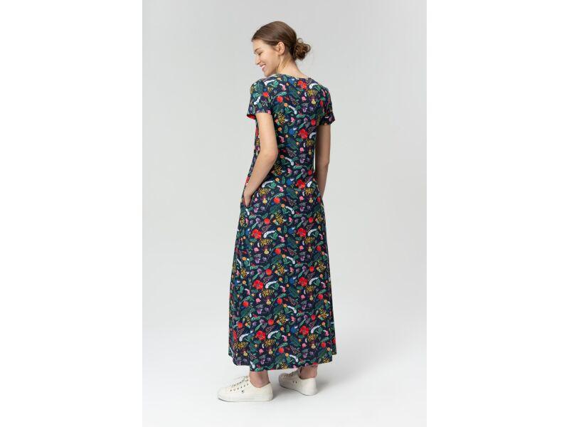 AUDIMAS Ilga tampri marginta suknelė 20FL-007 Dark Meadow