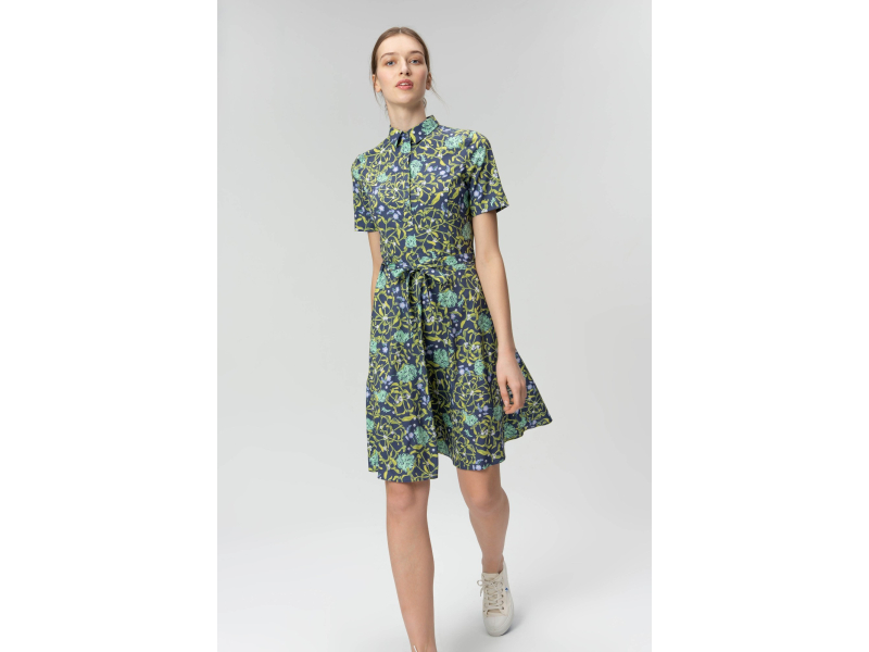 AUDIMAS Neglamži lengva marginta suknelė 20FL-239 Dark Garden