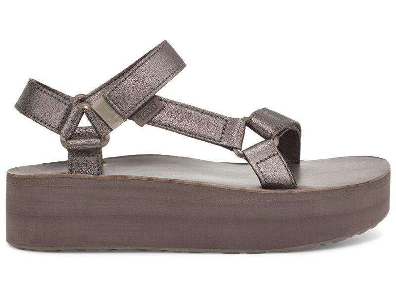 Teva Flatform Universal Leather Women's Metallic Bronze