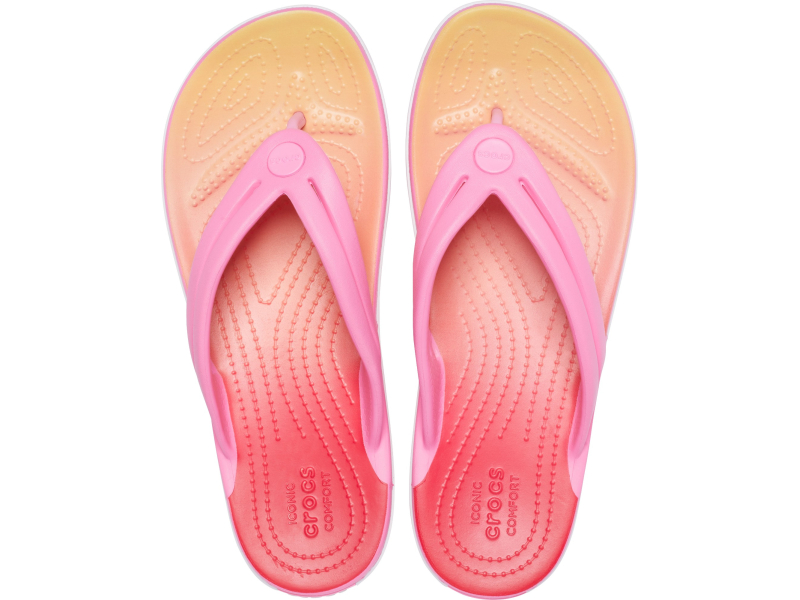 Crocs™ Crocband Ombre Flip Women's Pink Lemonade/Multi