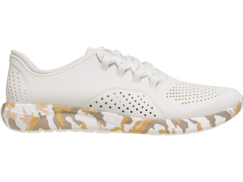 Crocs™ LiteRide Printed Camo Pacer Men's Almost White