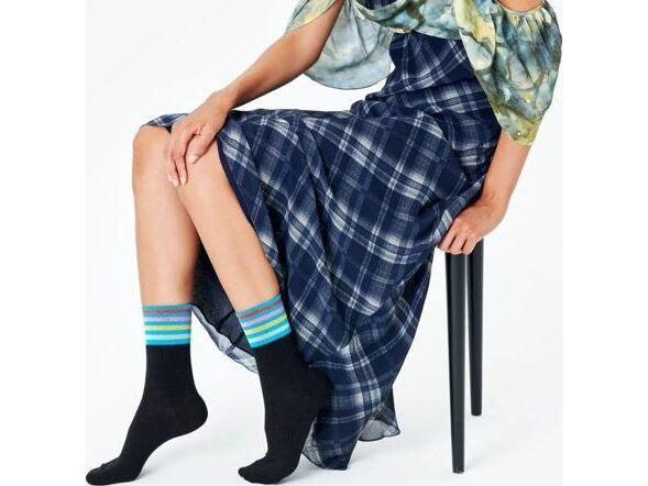 Happy Socks Colour Cuff 3/4 Crew Sock Multi 9300