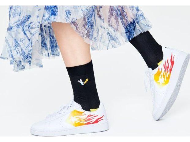 Happy Socks Embroidery Fire Rabbit Sock Multi 9300