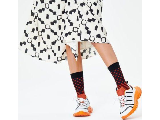 Happy Socks Stripes And Heart Sock Multi 9000