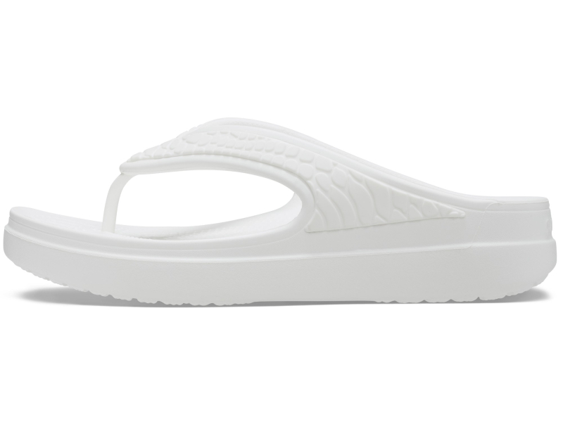 Crocs™ Sloane Snake Wedge Flip White