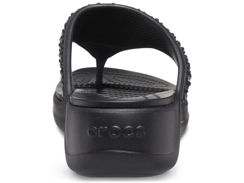 Crocs™ Monterey Shimmer Wedge Flip Black