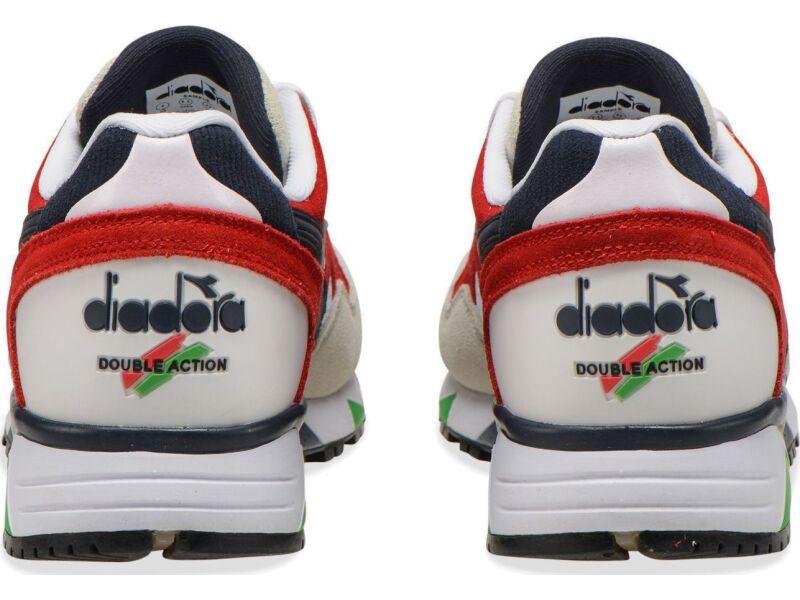 DIADORA N9002 White/Blue Denim/Dark Red
