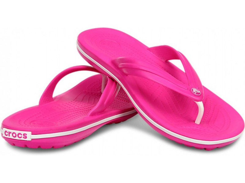 Crocs™ Crocband™ Flip Spilgti rozā/Balta