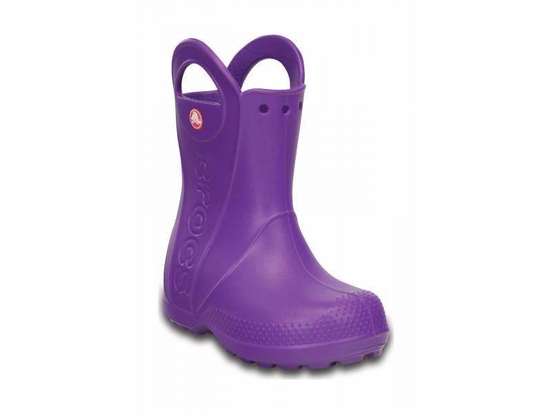 Crocs™ Kids' Handle It Rain Boot Neon Purple