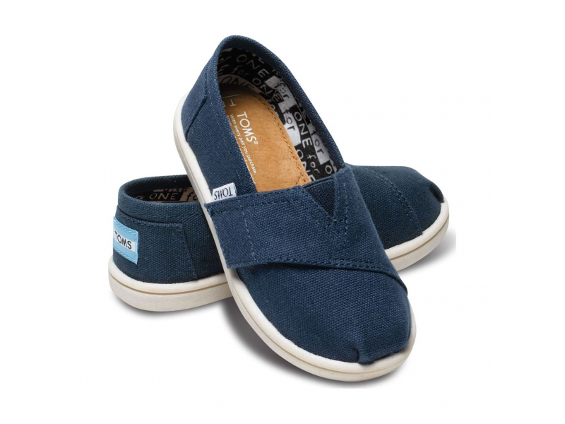 TOMS Canvas Kid's Classic Alpargata Navy