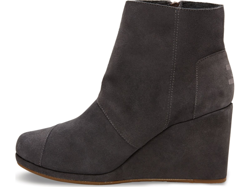 TOMS Suede Women's Desert Wedge High Dark Grey