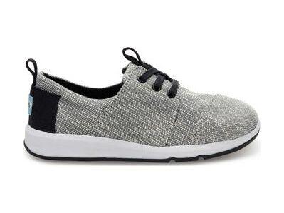 TOMS Textured Woven Junior's Del Rey Sneaker Black