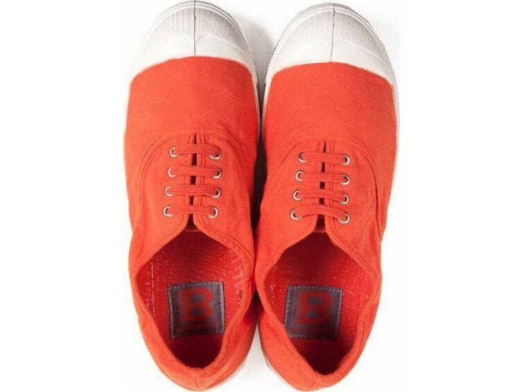 BENSIMON Tennis Lacets Femme Orange