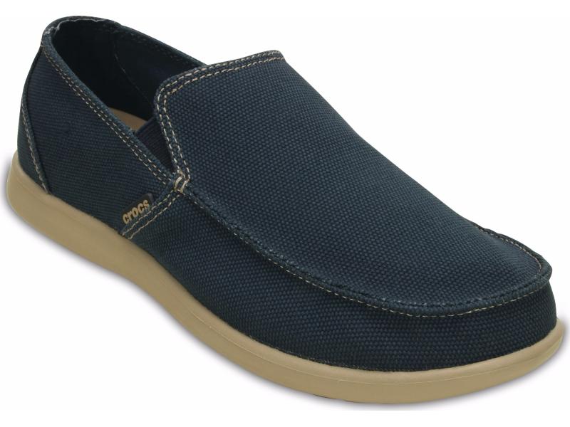 Crocs™ Santa Cruz Clean Cut Loafer Navy/Tumbleweed
