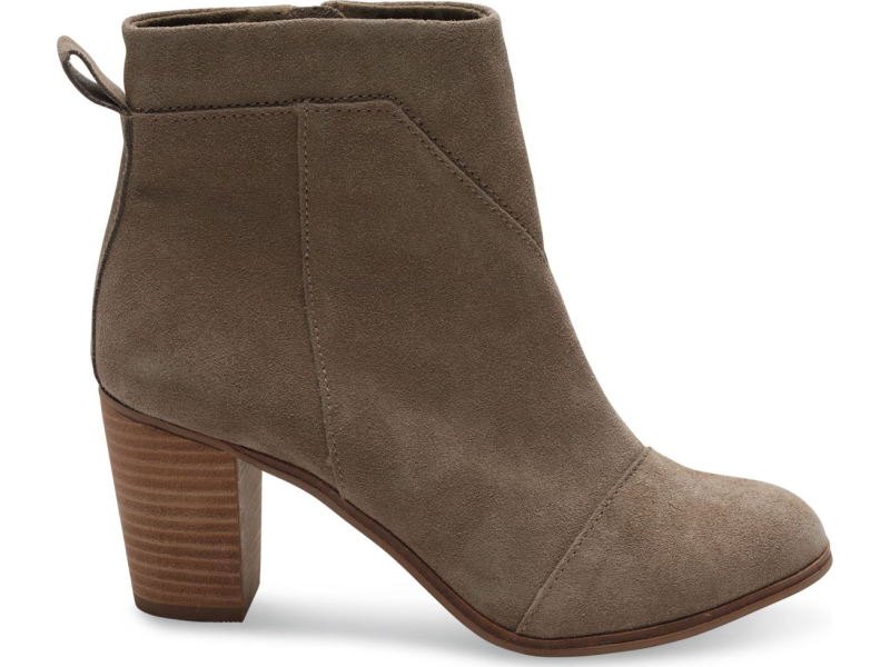 TOMS Suede Women's Lunata Boot Taupe