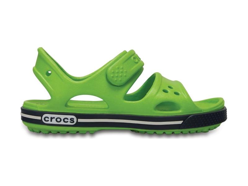 Crocs™ Kids' Crocband II Sandal PS Volt Green/Navy