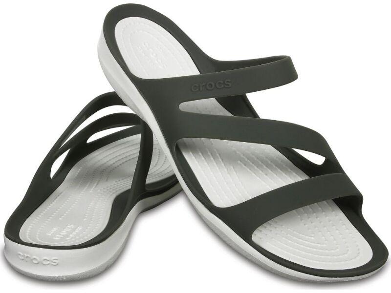 Crocs™ Women's Swiftwater Sandal Smoke/White