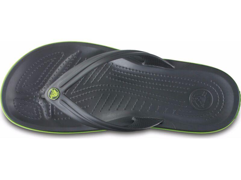 Crocs™ Crocband™ Flip Graphite/Volt Green