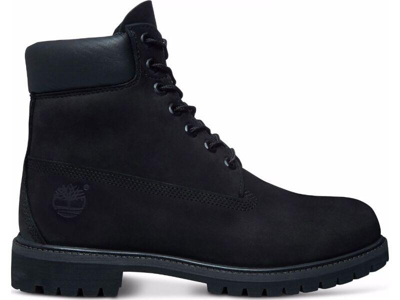 TIMBERLAND 6 In Premium Boot Men Black Nubuck