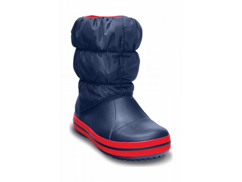 Crocs™ Kids' Winter Puff Boot Tumši zila/Sarkana