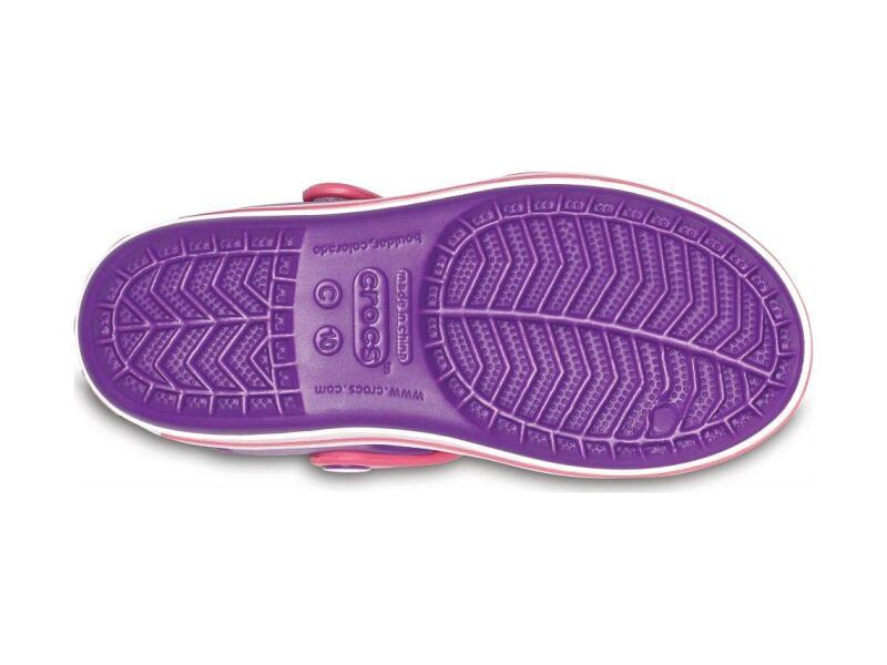 Crocs™ Kids' Crocband Sandal Amethyst/Paradise Pink