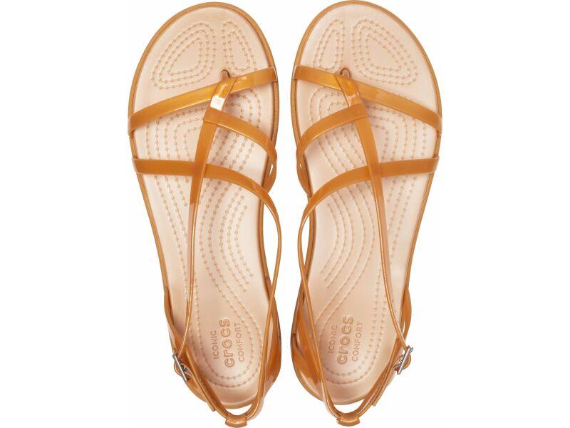 Crocs™ Isabella Gladiator Sandal Dark Gold/Gold