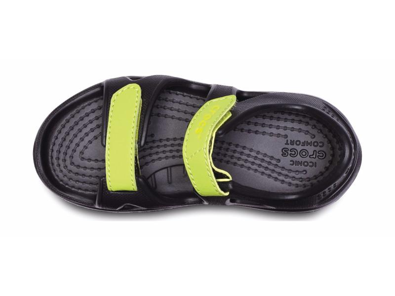 Crocs™ Kids' Swifwater River Sandal Black/Volt Green
