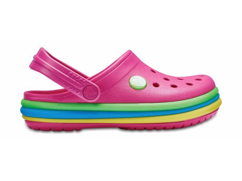 Crocs™ Kids' Crocband Rainbow Band Clog Paradise Pink
