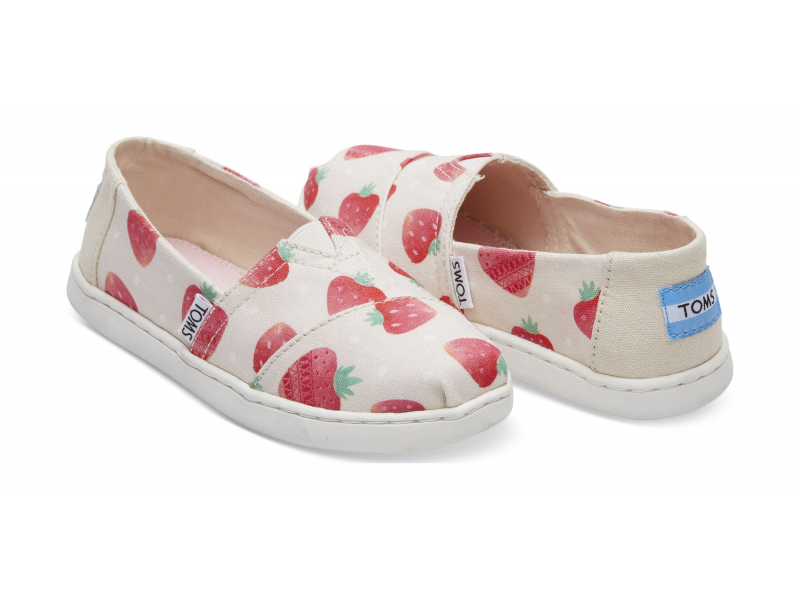 TOMS Strawberries And Cream Junior's Alpargata Birch
