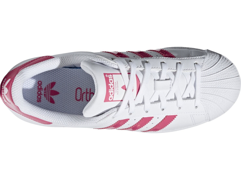 ADIDAS Superstar J White/Real Pink