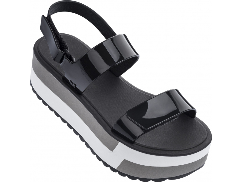 ZAXY Slash Plat Sandal Black