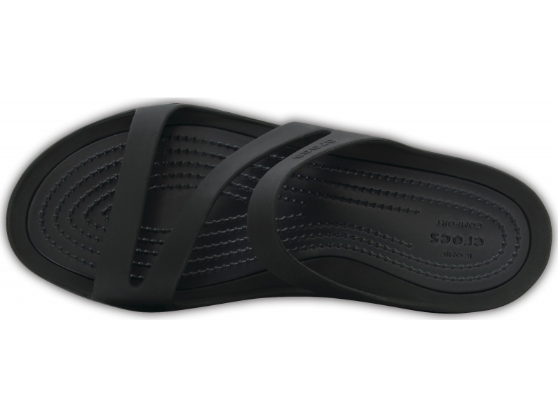 Crocs™ Women's Swiftwater Sandal Black/Black