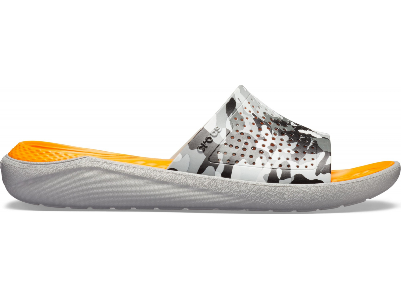 Crocs™ LiteRide Graphic Slide Camo/Light Grey
