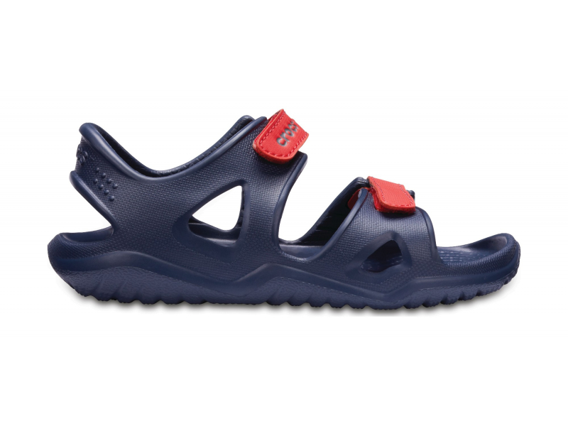 Crocs™ Kids' Swifwater River Sandal Navy/Flame