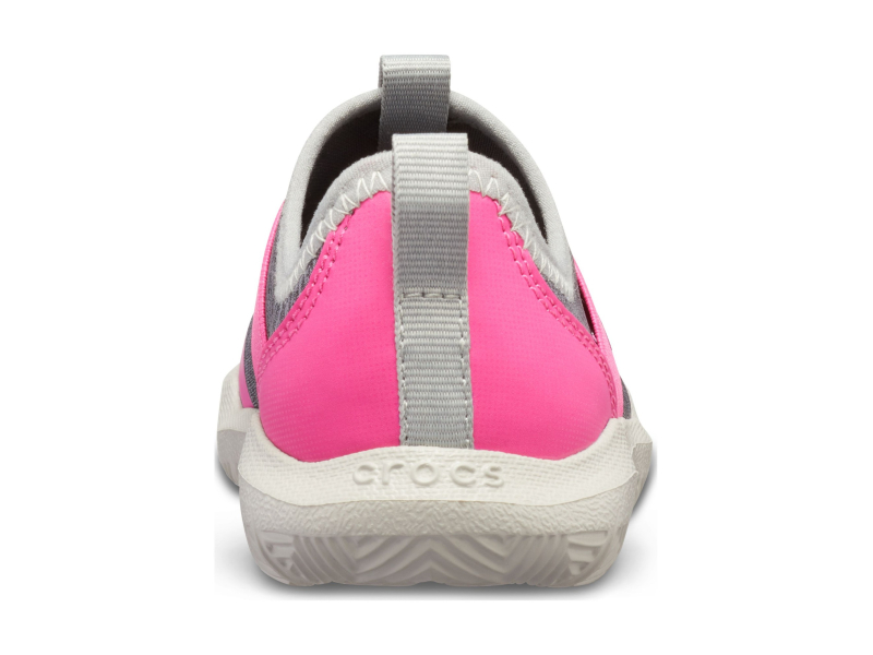 Crocs™ Kids' Swiftwater Easy-On Heathered Shoe Light Grey