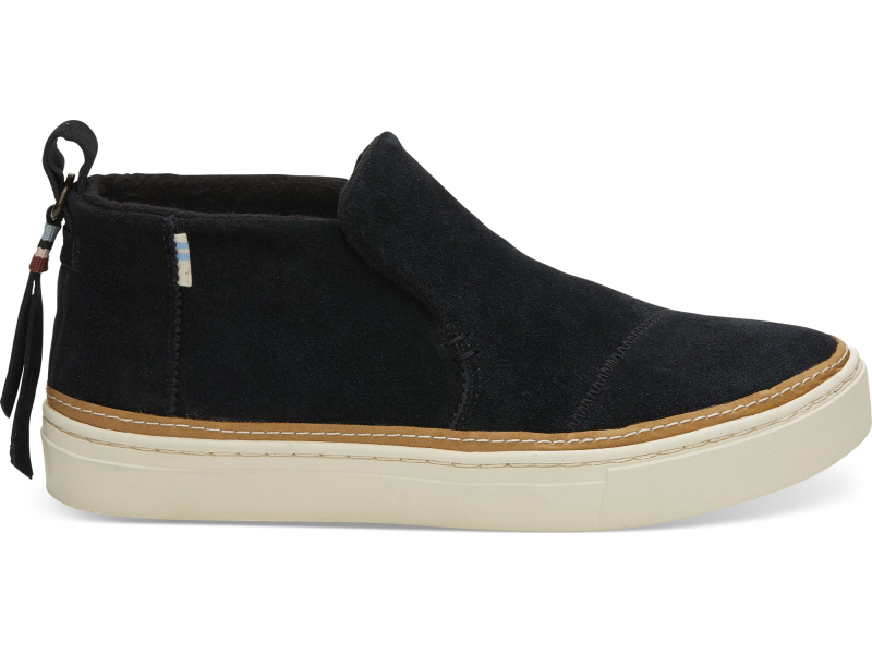 TOMS Suede Water Resistant Women's Paxton Slipon Black