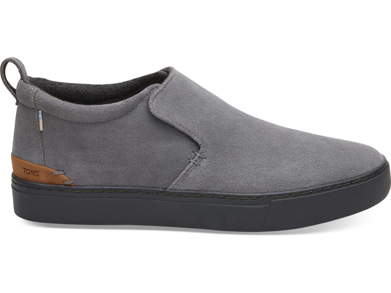 TOMS Suede Water Resistant Men's Paxton Slipon Shade