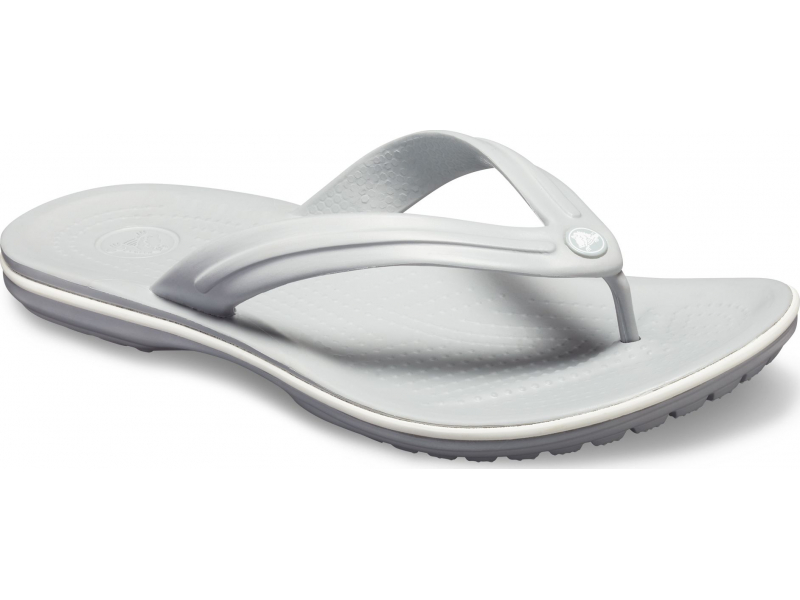 Crocs™ Crocband™ Flip Light Grey/White